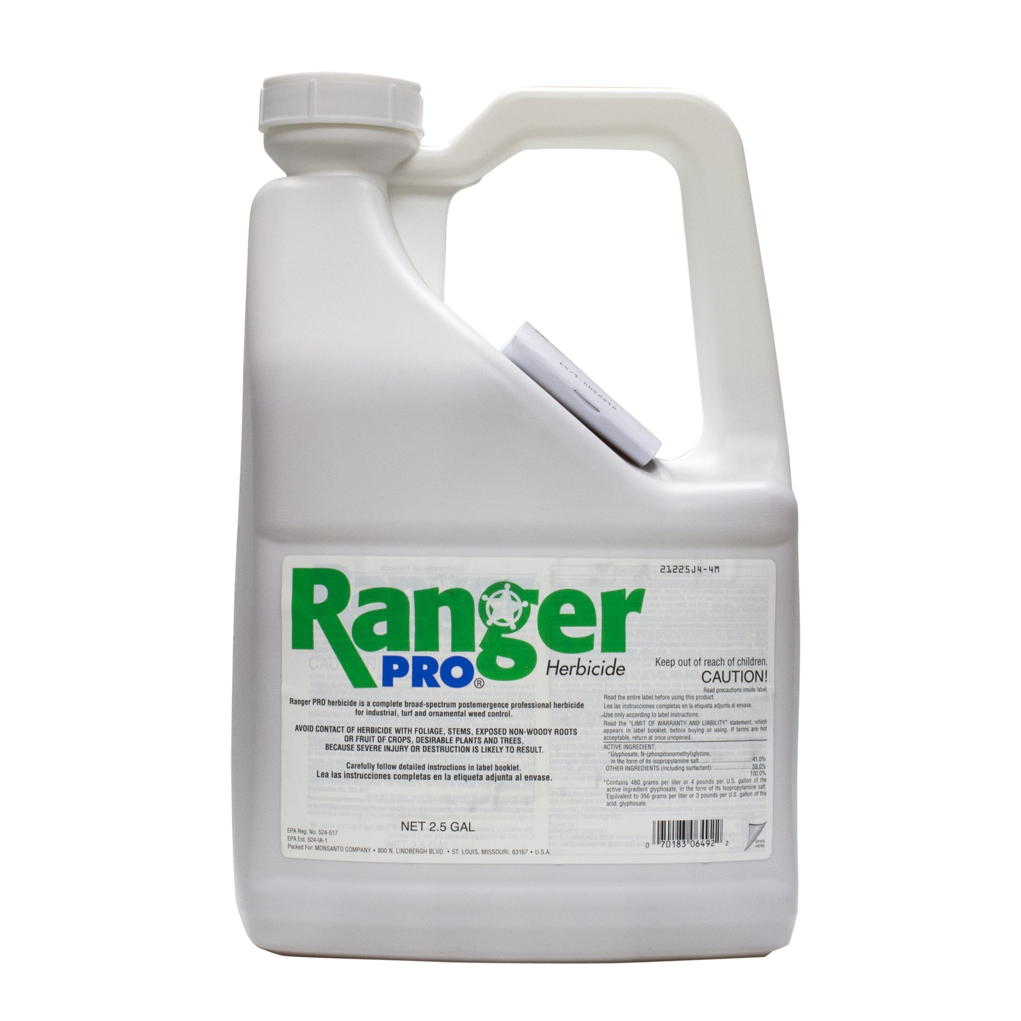 Ranger Pro 41% Glyphosate 5 Gallons 2 x 2.5/Gal Jug Systemic Herbicide Same as Round Up Pro