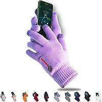 axelens Guantes Touch Screen Táctiles Invernales Calientes Cómodos Térmicos Resistentes al frío, Interior de Felpa para…
