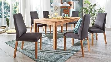 Esstisch Holm Esszimmer Ausziehbarer Tisch In Wildeiche Massiv Geölt  160 240x90