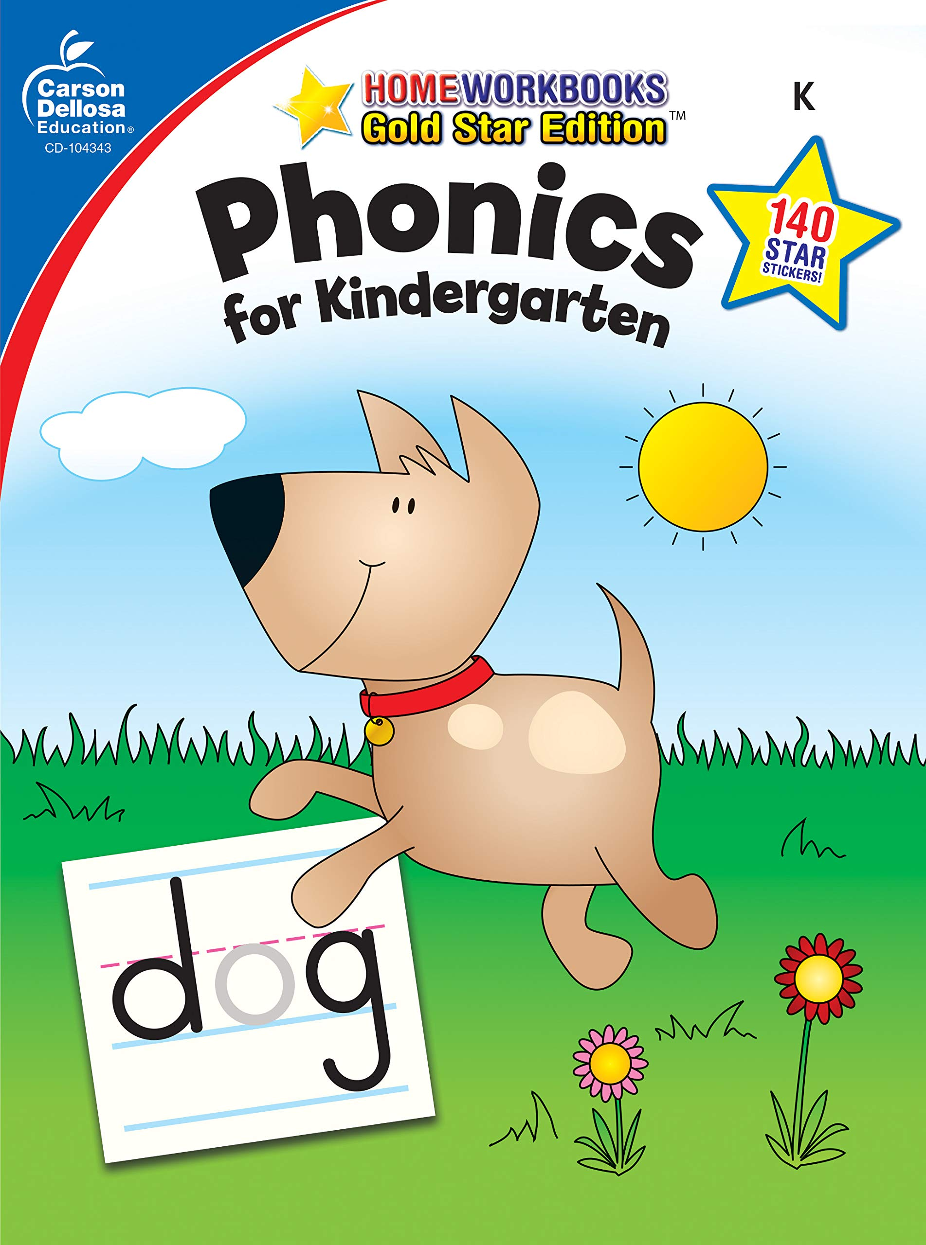 graphic about Home and Family Christmas Workbook named Phonics for Kindergarten, Quality K (Household Workbook)