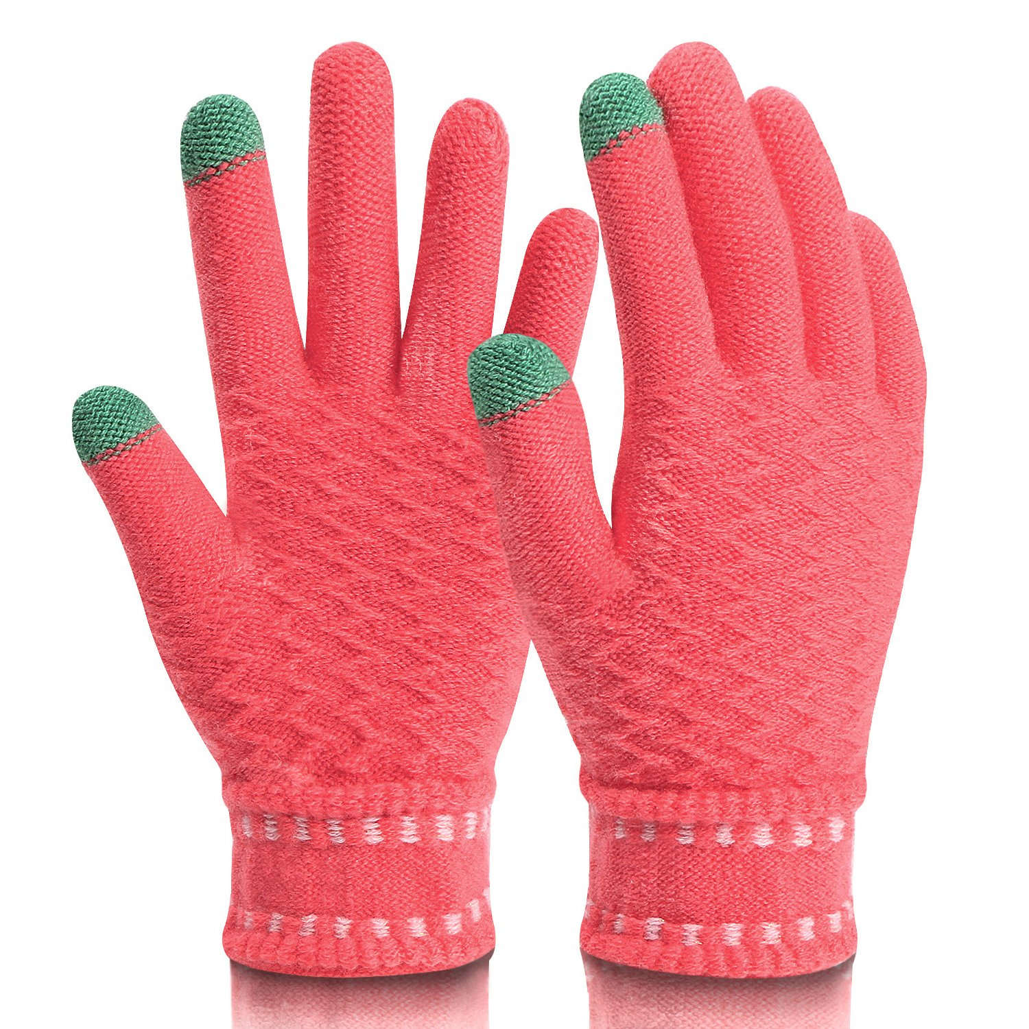 Mossio Winter Gloves Touch Screen Thick Windproof Warm Knit Mittens Mitten Gloves Glove0102