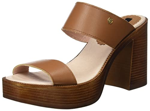 Sandalia Pala Palm Cuero, Womens Sandals with an Ankle Strap Cuplé