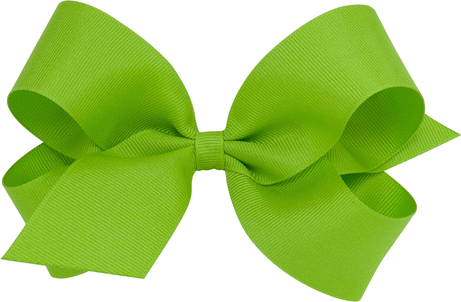 Wee Ones Baby Girls' Large Classic Grosgrain Hair Bow on a WeeStay Clip w/Plain Wrap