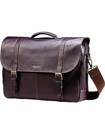 55fc1e2d6e Samsonite Columbian Leather flapover case, Brown