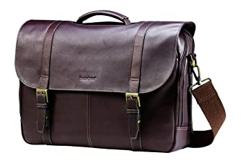 Amazon Com Samsonite Colombian Leather Flap Over Messenger Bag