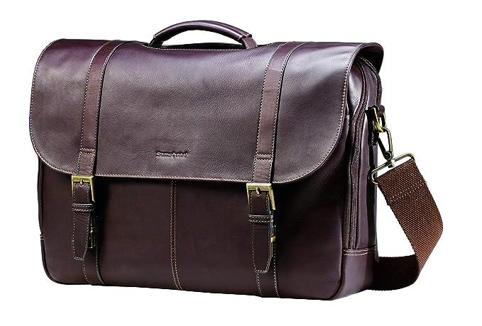 Samsonite Colombian Leather Flap-Over Messenger Bag e9514fb0f8092