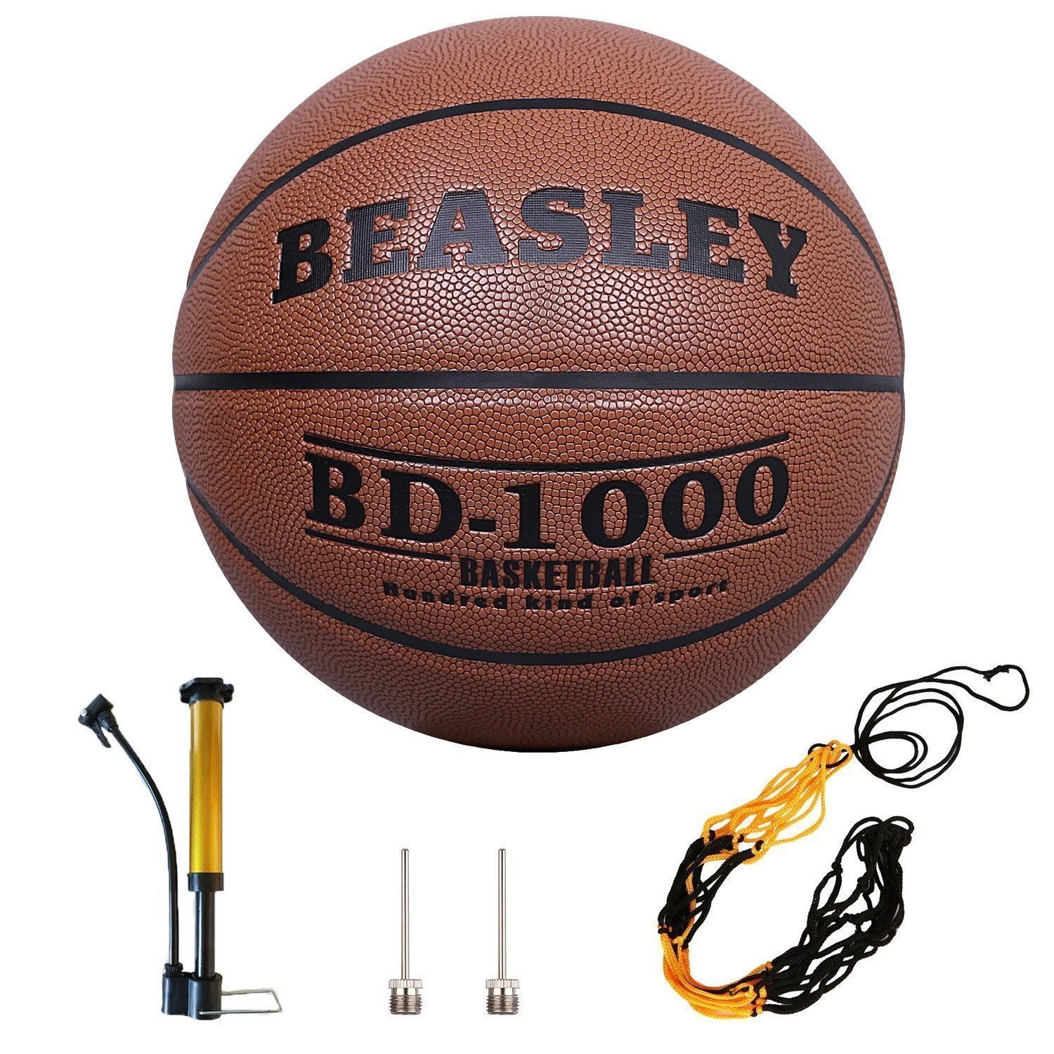 Daping Basketball Outdoor Indoor Official Size 29.5 Leather Basketballs Training Game Ball Street with Pump Needles Basketball Net Size 7
