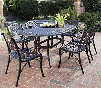 home styles biscayne 7piece outdoor dining set black finish