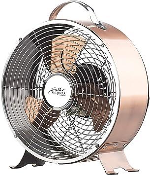 Ventilateur de table 20 W en métal design rétro