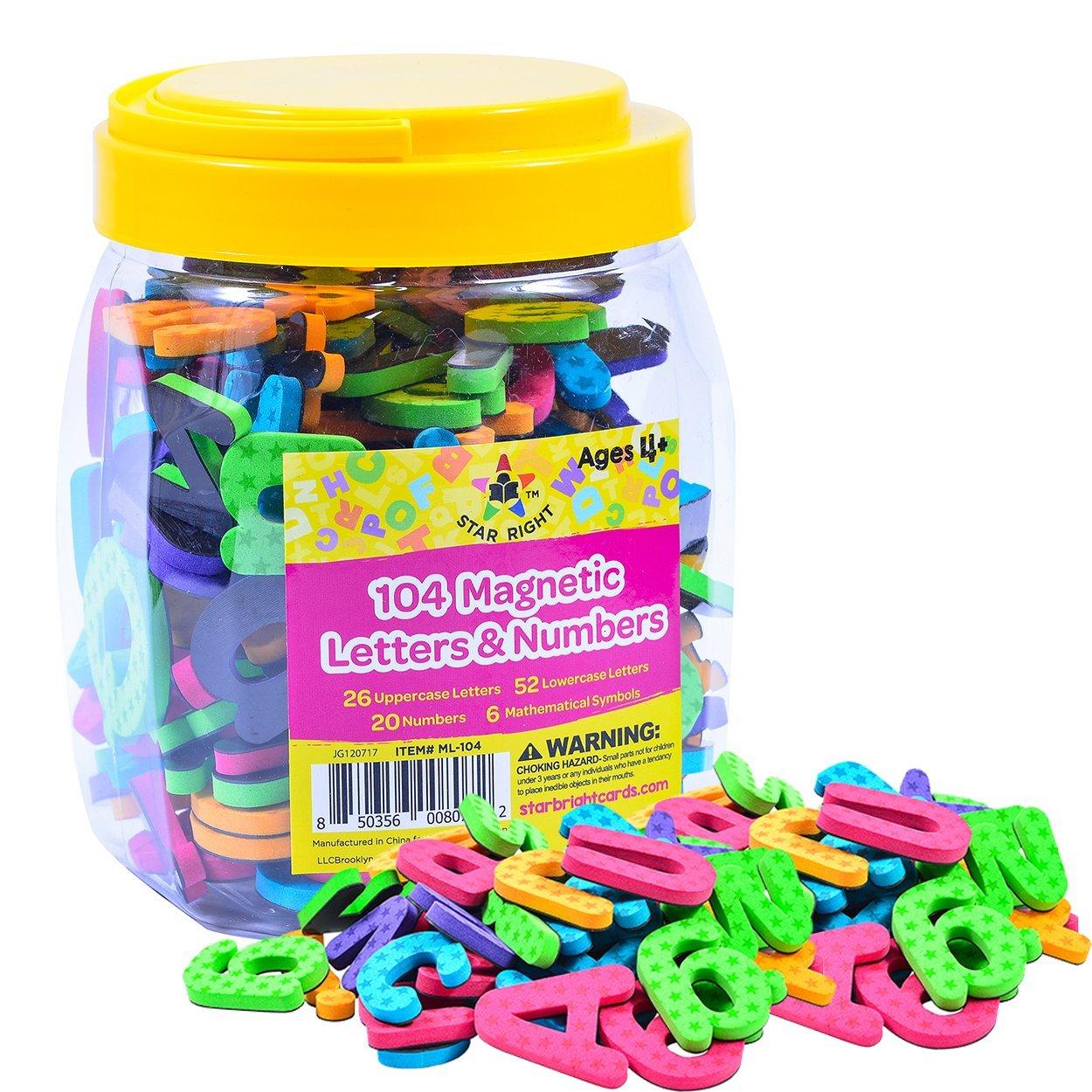 Magnetic Alphabet Letter Maths Number Symbol Fridge Magnets In Jar 80Pcs KIDS