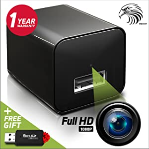 Safari Special Edition 1080P HD USB Wall Charger Hidden Spy Camera