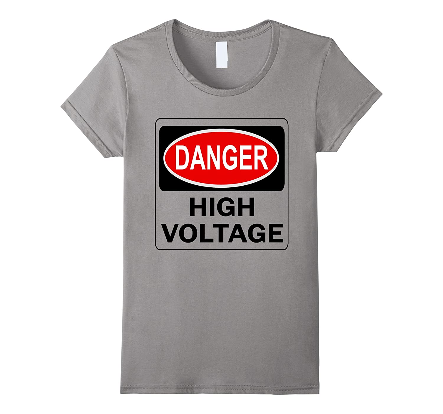 Amazon.com: Danger High Voltage T-Shirt Electric Electricity Safety ...