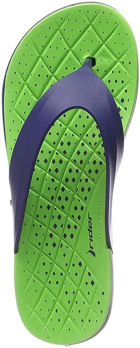 f8f510405cf Rider Men s Infinity Thong AD Flip Flops Multicolour (Blue Green 8380) 6 UK