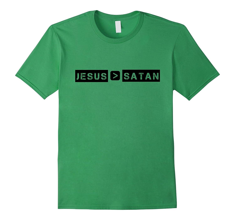 jesus is greater than satan tshirtcd � canditee