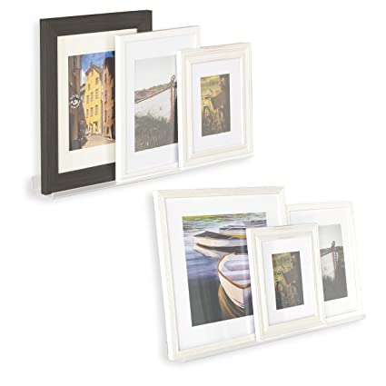 Floating Wall Shelf Photo Ledge Display Bookshelf Clear Acrylic Invisible Mounting Hardware Included 28 Inches Set
