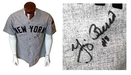 c5bf92805 Image Unavailable. Image not available for. Color  Yogi Berra signed 1951  Yankees Mitchell   Ness jersey ...