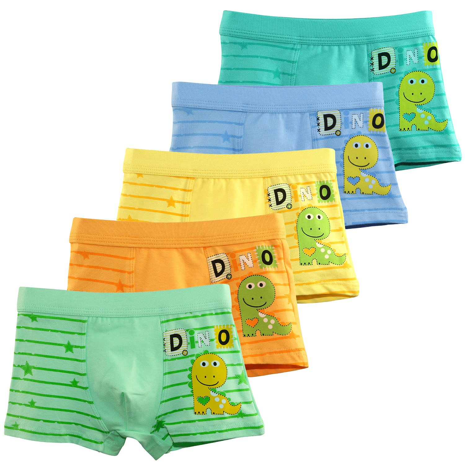 BOOPH Boys Underwear Dinosaur Boys'Boxer Briefs Little Toddler Cotton Underwear for Kids 2T-12T by BOOPH (Image #1)