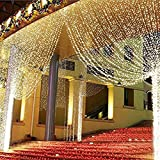 Amazon Price History for:ZSTBT Linkable 304LED 9.84ft9.84ft/3m3m Window Curtain String Lights Icicle Fairy Lights Party Wedding Home Patio Lawn Garden Decorations (Warm White)