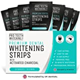 Premium Dental Teeth Whitening Strips with Activated Charcoal | 28 Peroxide-Free Tooth Whitening Strips Per Pack (14 Upper + 14 Lower) | Fast Acting Teeth Stain Removal | Professional Results in 3 Easy Steps | 30 Minutes to a Whiter Brighter Smile | Formulated by UK Dentists by Pro Teeth Whitening Co.®