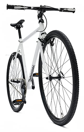 retrospec bicycles amok convertible singlespeed bike with chromoly frame white