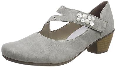 Womens 41784 Closed Toe Heels, Grey Rieker