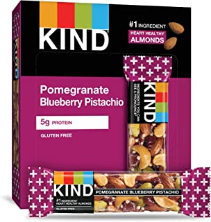 product image for Bars, Pomegranate Blueberry Pistachio + Antioxidants, Gluten Free, Low Sugar, 48 Count