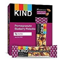 KIND Bars, Pomegranate Blueberry Pistashio + Antioxidants, Gluten Free, Low Sugar...