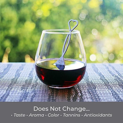 The Wand | El único filtro de vino que elimina las histaminas y los conservantes de sulfito | Saborea el vino, evita los efectos secundarios (24): Amazon.es: Hogar