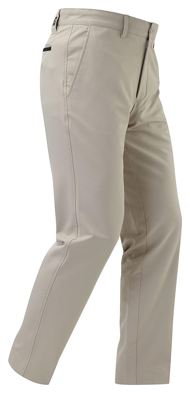 TALLA W36L33. Footjoy Performance Slim Fit Pantalón, Hombre, Caqui/Blanco, 36-33