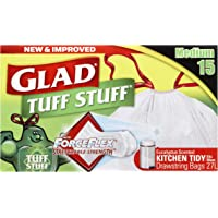Glad Glad Kitchen Tidy Tuff Stuff Drawstring Bag, 15 count