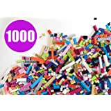 Building Bricks - Pastel Colors - 1,000 Pieces - Compatible with all Major Brands