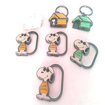 Snoopy Peanuts Charlie Brown Kit 5 llavero (Metal lacado ...