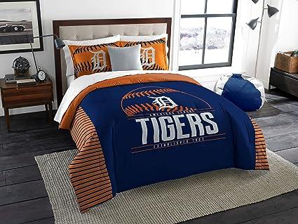 NEW Northwest Detroit Tigers Full Queen Comforter Bedding Set 2 Shams