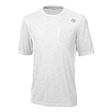 WILSON M Textured Crew WH - Camiseta para Hombre: Amazon.es ...
