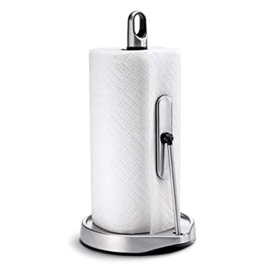 simplehuman Tension Arm Paper Towel Holder, Brushed Stainless Steel