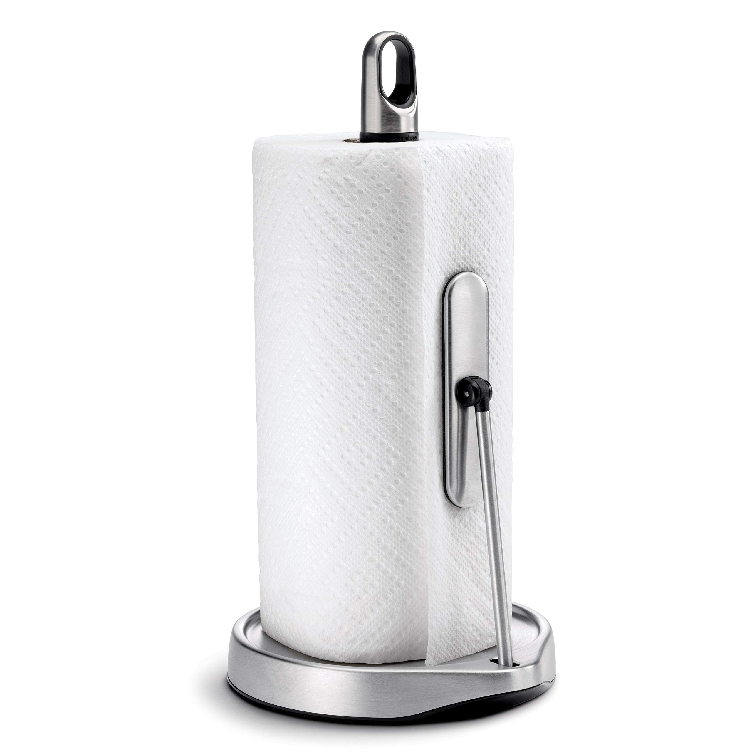 Soporte de acero inoxidable para portarrollos de papel de cocina con varilla//pinza by DELIAWINTERFEL
