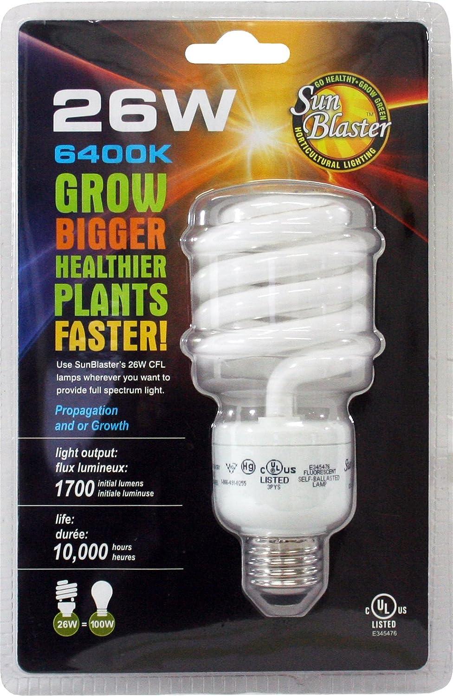 Fits Standard Size Light Socket BFG Supply 900156 SunBlaster CFL Self ballasted Propagation lamp 26 Watt 6400K Light Spectrum