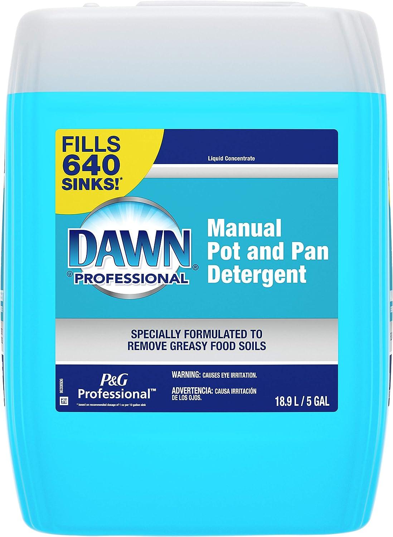 P&G Professional Dawn Manual Pot & Pan Detergent, Translucent Blue, 5 Gal (70681)