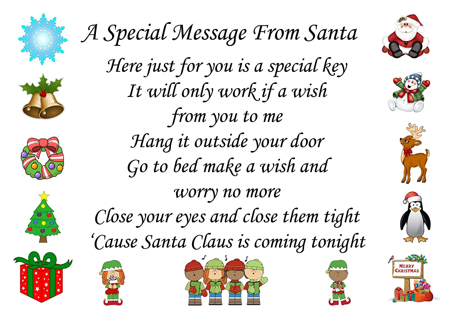 santa christmas eve box with personalised letter santa key
