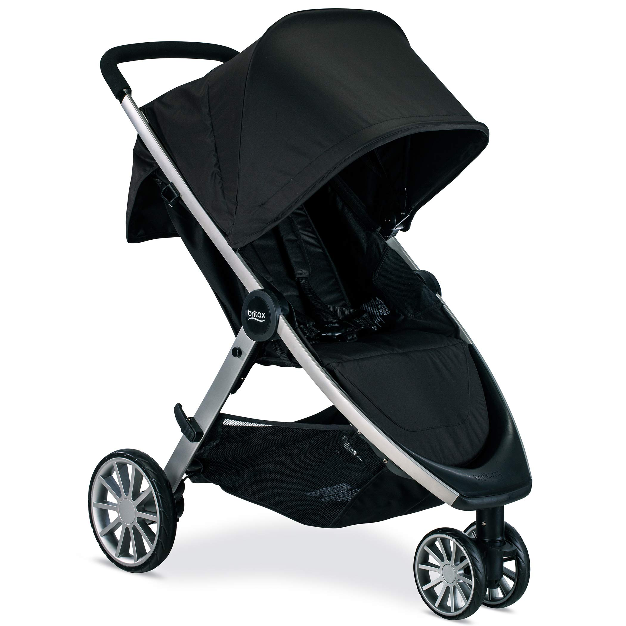 Britax B-Lively Lightweight Stroller - Up to 55 pounds - Car Seat Compatible - UV 50+ Canopy - Easy Fold, Raven by BRITAX