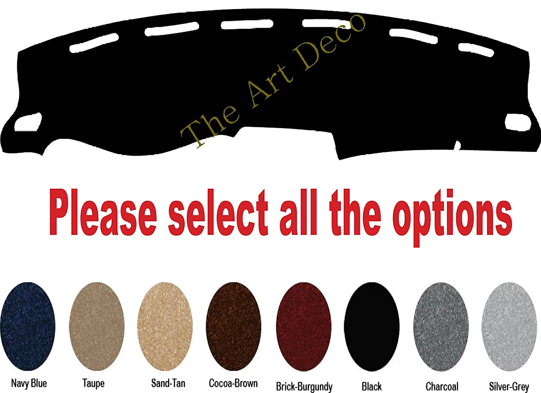 Premium Custom Carpet Dash Mat Pad The ArtDeco Dash Cover for CHEVY TRAX Fits 2015~2016, Charcoal