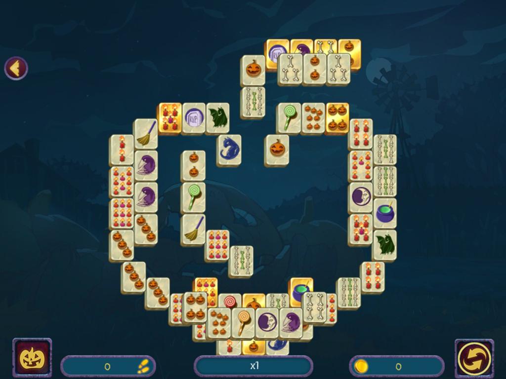 Amazon com: Halloween Night Mahjong [Download]: Video Games