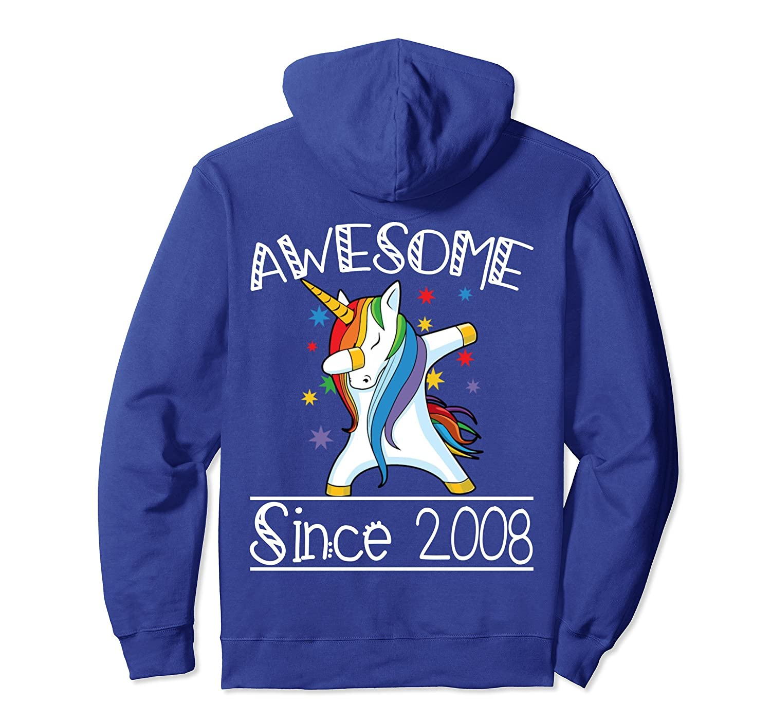 10th Birthday Gifts Vintage 08 Awesome Since 2008 Hoodie-ln