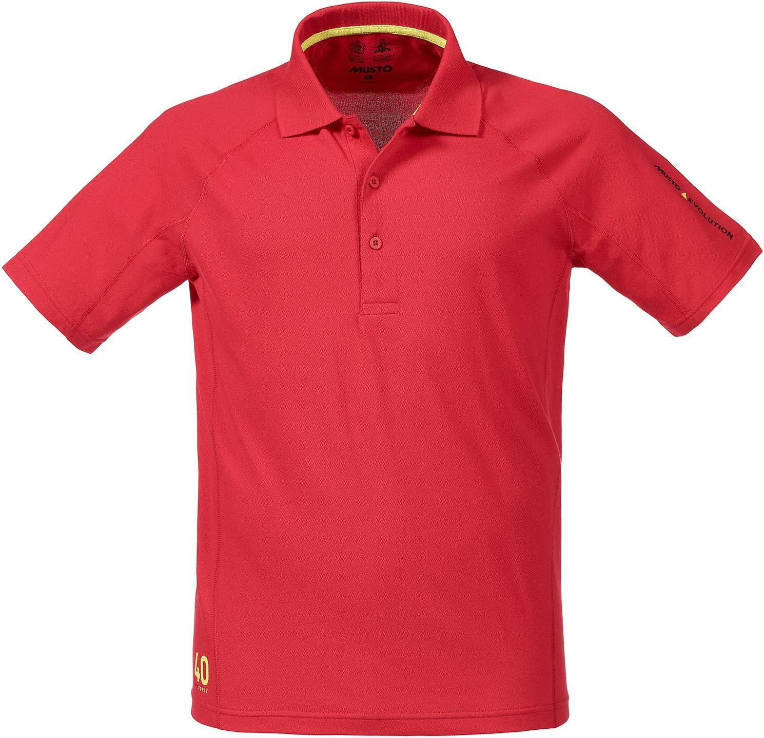 Musto Evolution Sunblock Short Sleeved Polo Top in True Red SE0264 ...