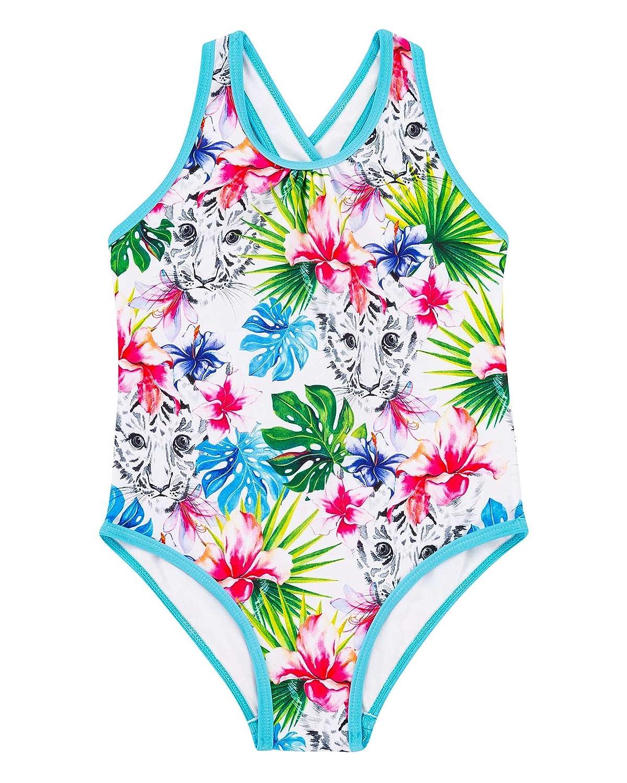Deux par Deux Girls' Tropical Print Swimsuit Playa Del Mar, Sizes 4-12