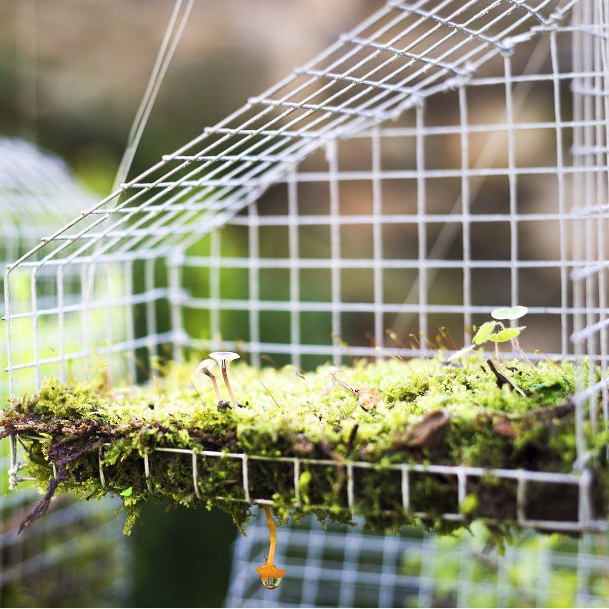 Goplus 48'' x 50' Hardware Cloth, 1/2 inch Welded Cage Wire Galvanized Hardware Cloth Metal Mesh Chicken Netting Rabbit Fence Wire Window - -