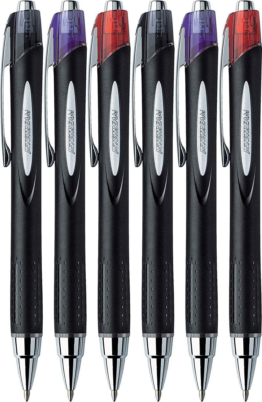 Uni-Ball 9008021 Jetstream Tintenroller mit Druckmechanik 1,0/mm F-Spitze 0,7/mm Strichbreite 12 St/ück blau