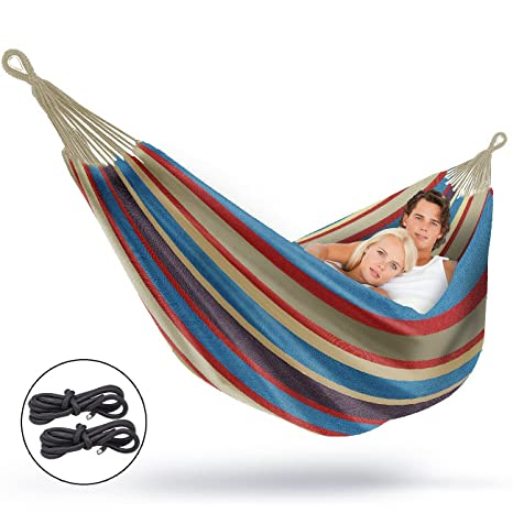 Sorbus Brazilian Double Hammock   Extra Long Two Person Portable Hammock  Bed For Indoor Or