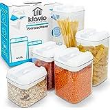 Klavio ® Tarros de almacenamiento | 5 recipientes herméticos y estables para cereales, harina, azúcar, recipiente de…