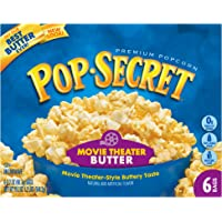 Pop Secret Popcorn, Movie Theater Butter, 3.2 Ounce Microwave Bags, 6 Count Box